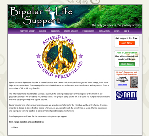 Bi-Polar 4 Life Support Web Site Shot