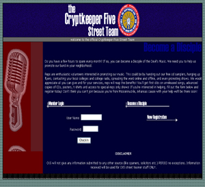 Cryptkeeper Five Street Team