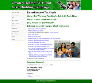 Earned Income Tax Credit Web Site Shot